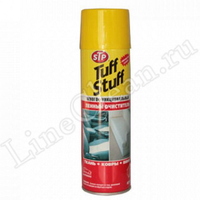 ...очиститель салона STP Tuff Stuff отмывает даже смазку с белых обшивок.